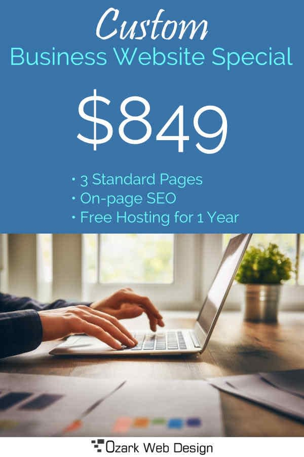 Web Design Special - $849