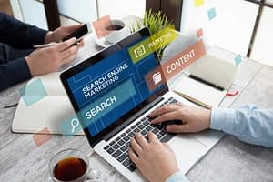 Search engine marketing concept for advanced SEO strategies in 2021