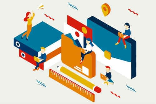 illustration of multiple companies in a portfolio