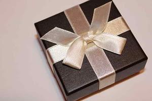 A gift box symbolizing a free gift