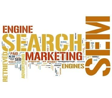 Word cloud about Search Engine Marketing